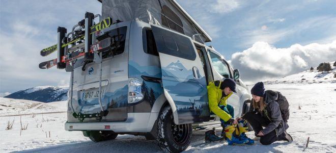 Полностью электрический концепт Nissan e-NV200 Winter Camper