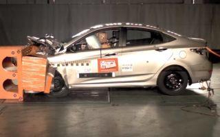 Краш тест популярного автомобиля Хендай Солярис