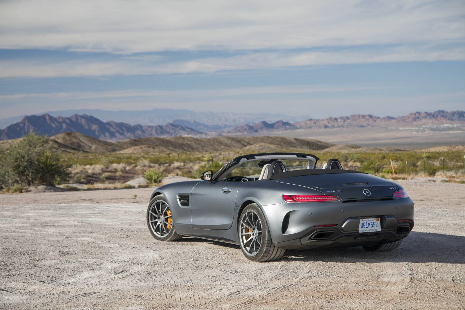Mercedes-AMG GT C Roadster вид сзади