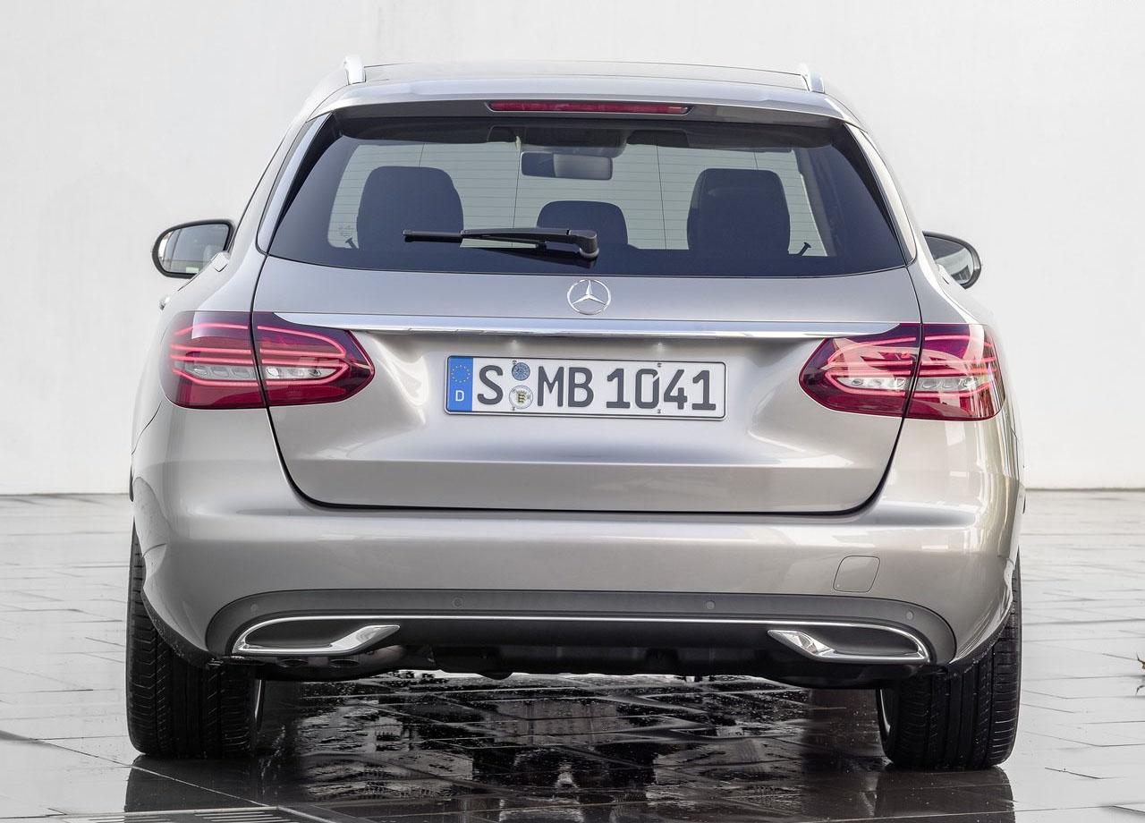 Mercedes C вид сзади