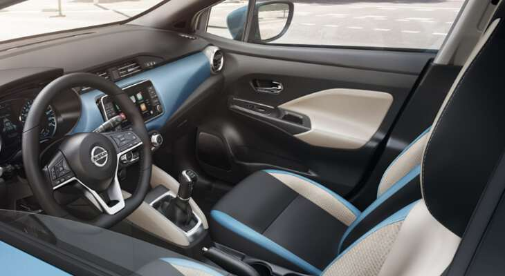 Nissan Micra 2017 передние сидения