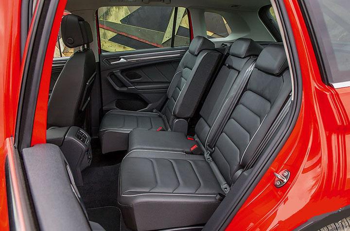 Volkswagen Tiguan задние сидения