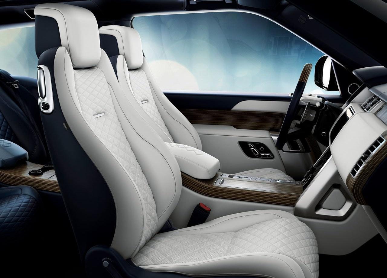 range rover sv coupe фото передние сидения