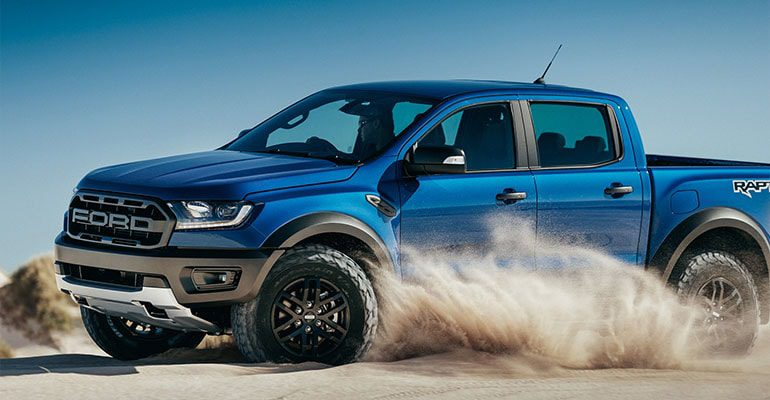 Ford Ranger Raptor фото сбоку