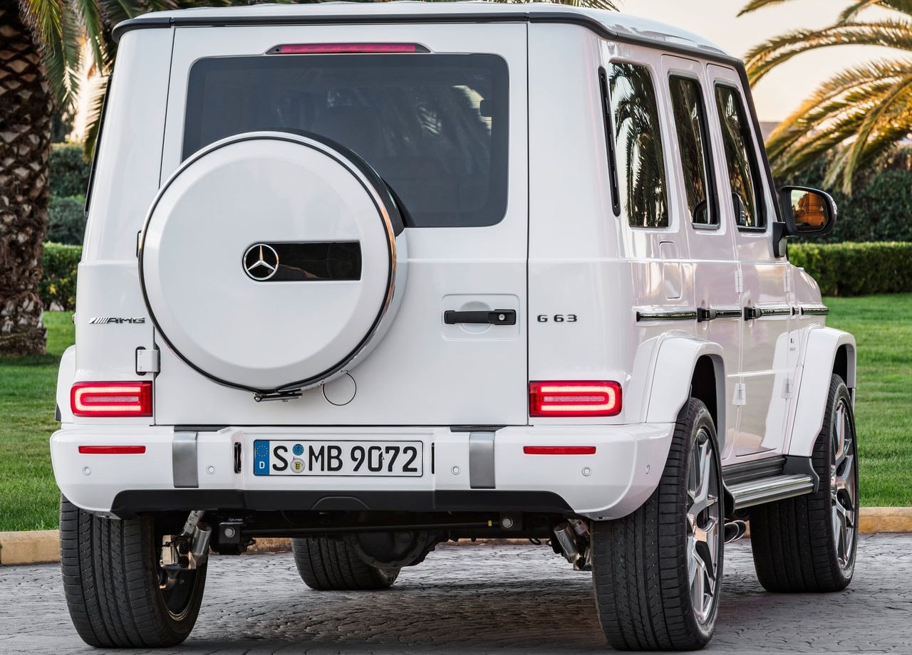 Mercedes G63 AMG фото вид сзади