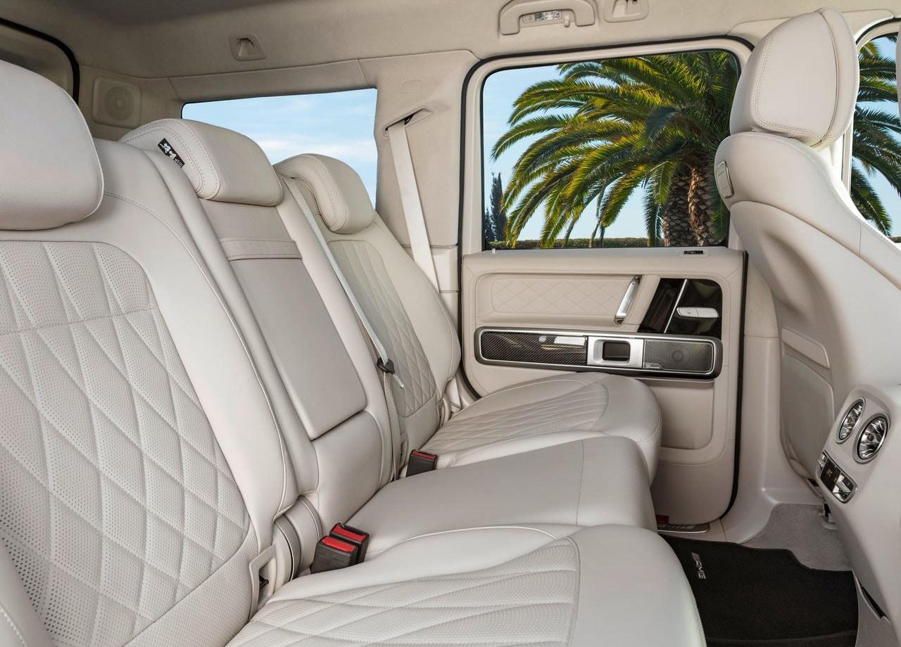 Mercedes G63 AMG задние сидения