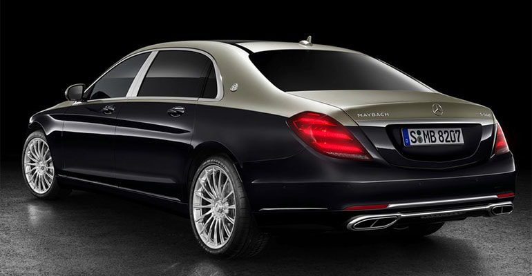 Mercedes Maybach S фото сзади