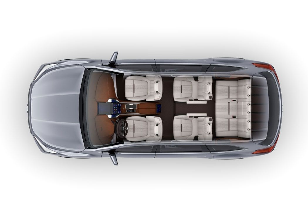 Новый Subaru Ascent фото сверху