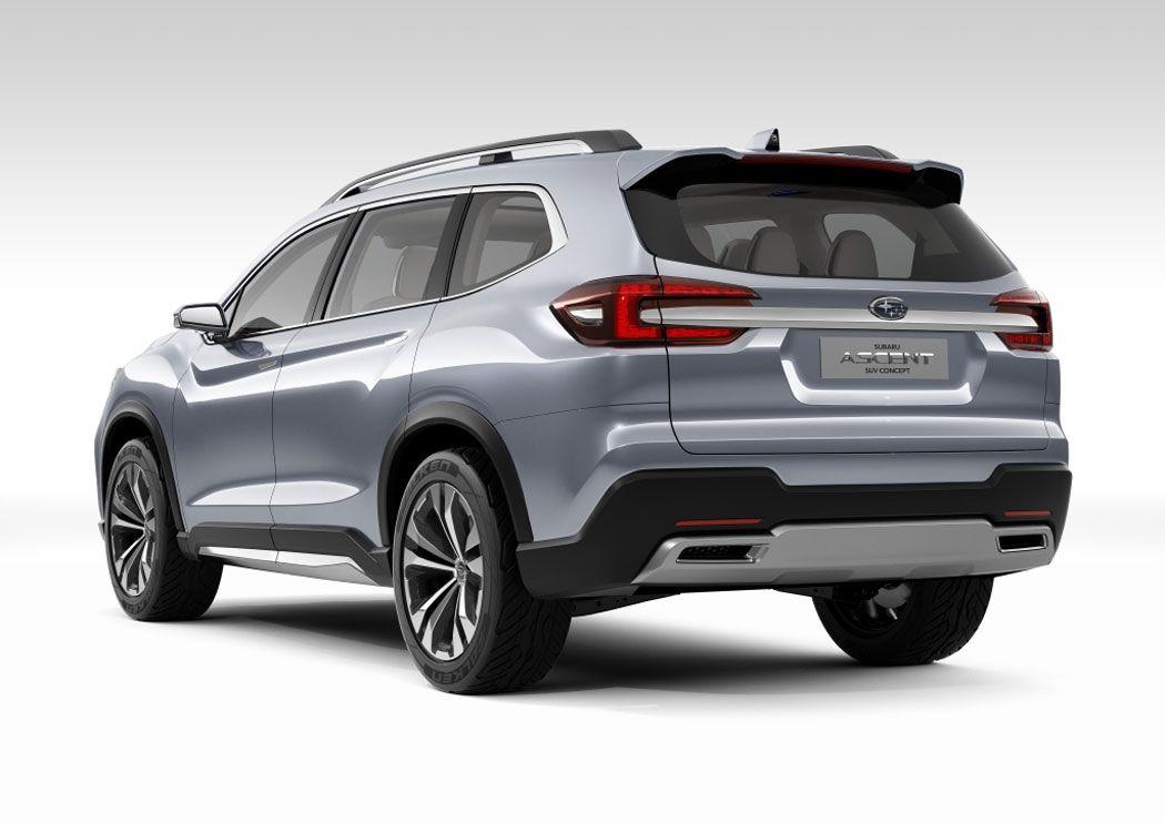 Новый Subaru Ascent вид сзади