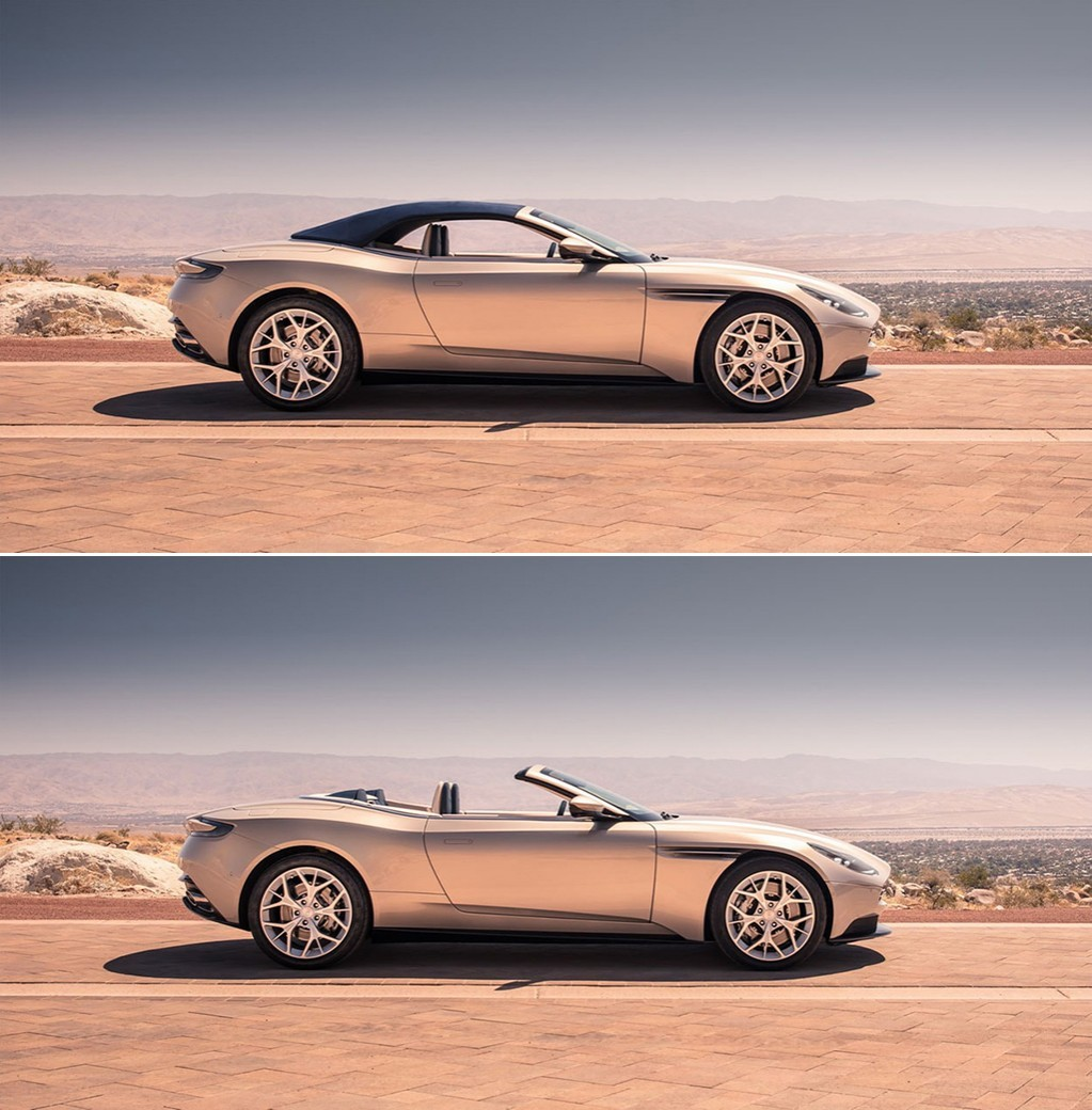Aston Martin DB11 Volante 2018 кабриолет вид сбоку фото