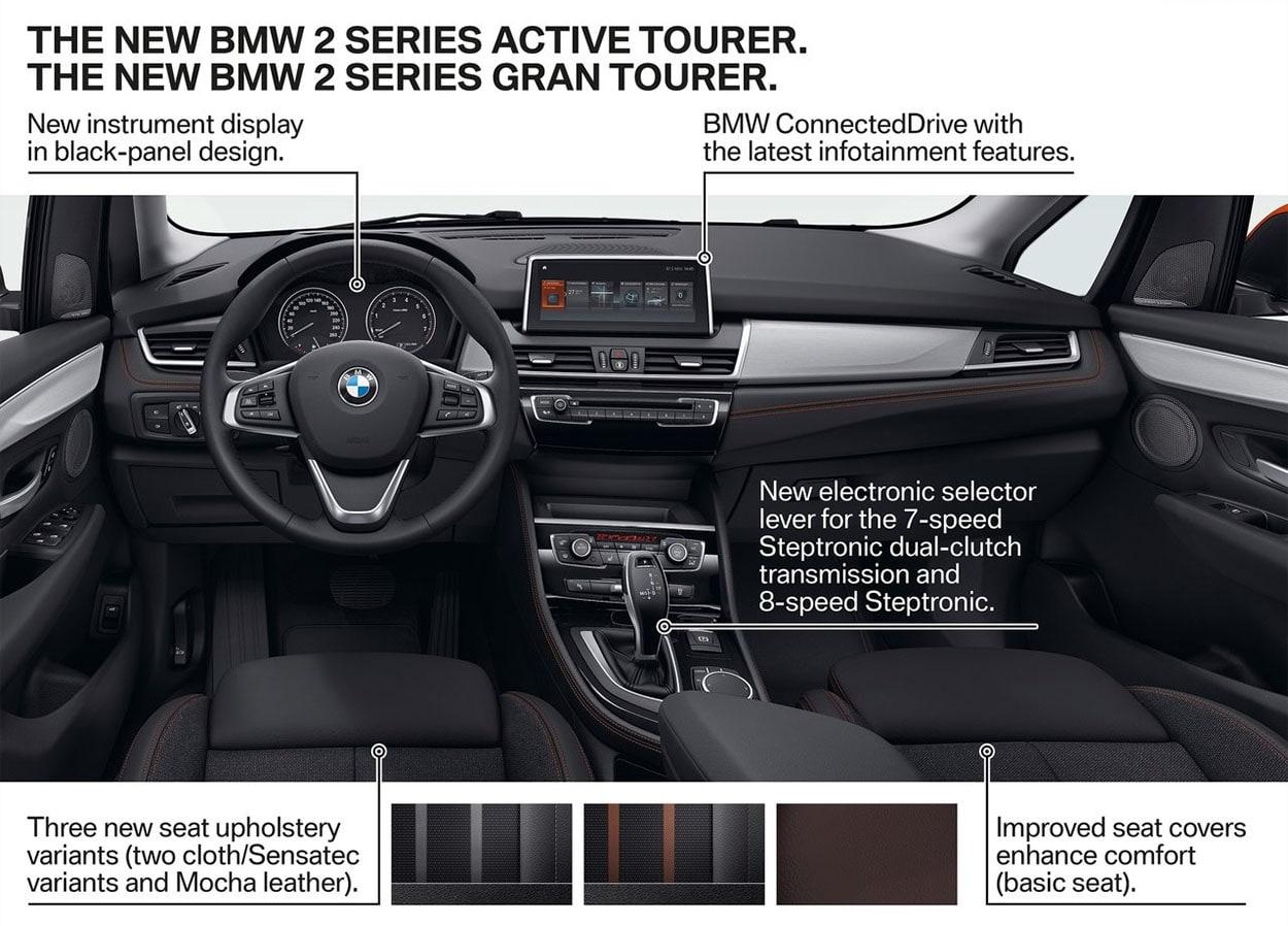 MW 2-Series Active и Gran Tourer фото обзор салона и мультимедии
