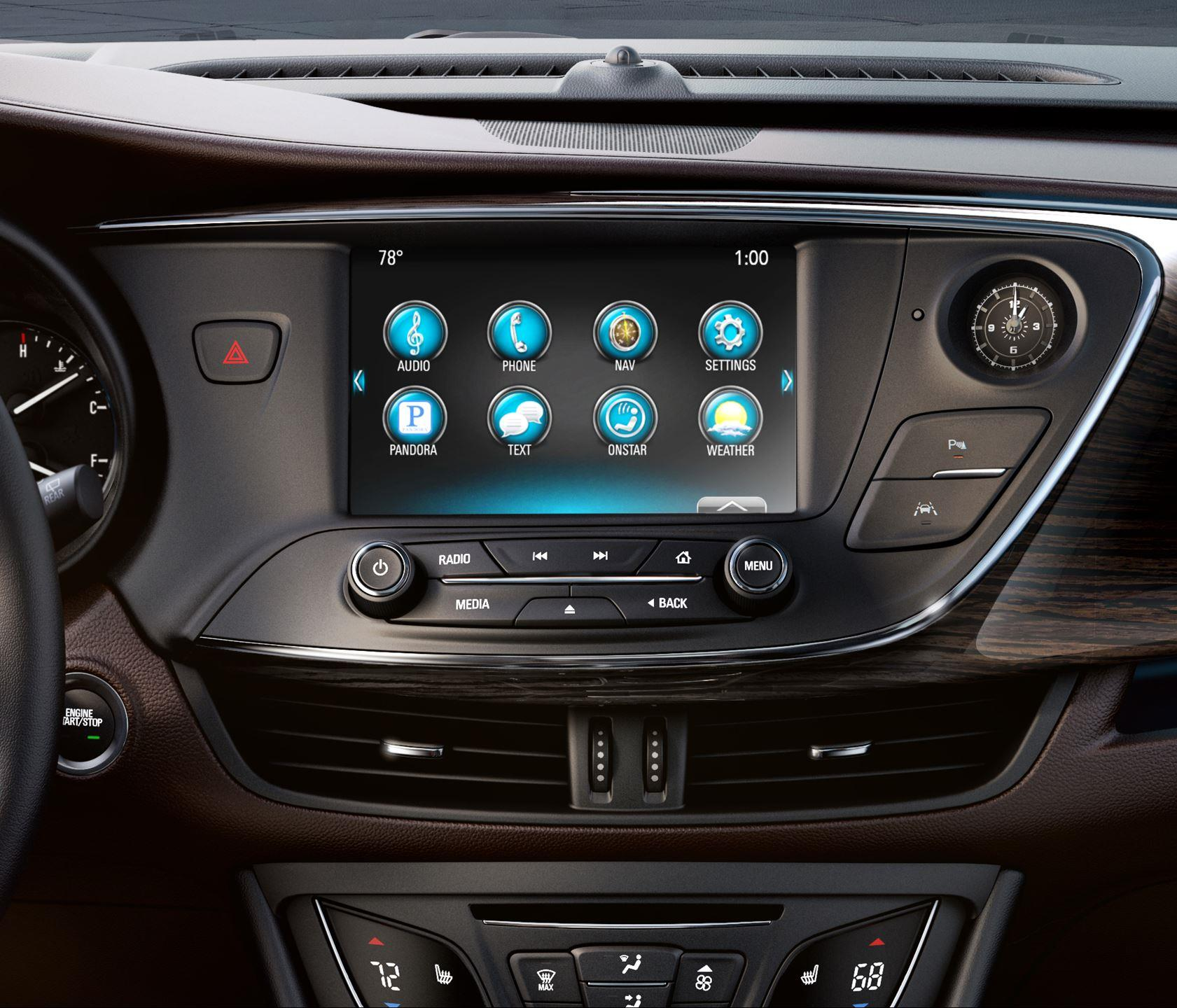 Buick Envision фото мультимедиа