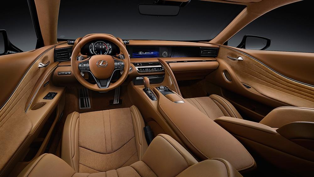 Lexus LC 500 вид салон