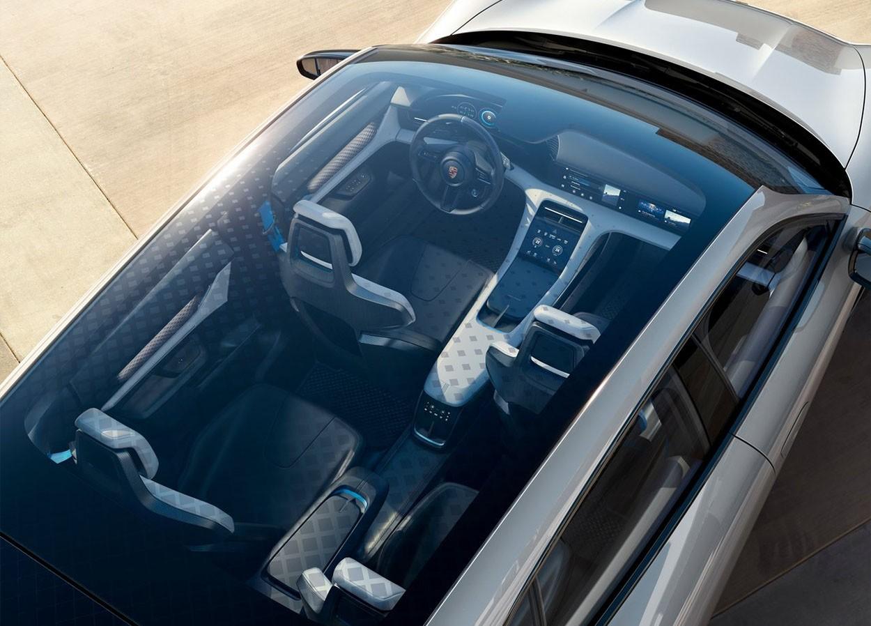 Porsche Mission E Cross Turismo Concept фото сверху