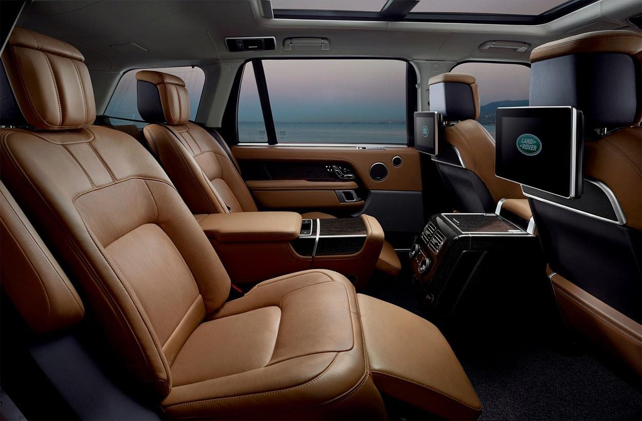 Range Rover 2018 фото передние сидения