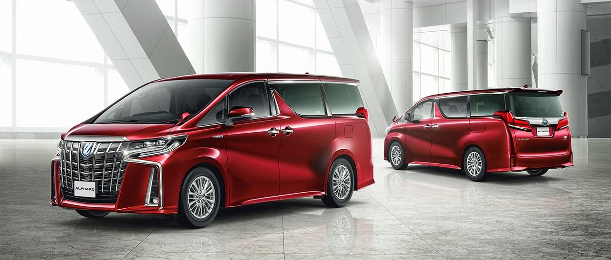 Toyota Alphard общее фото красная