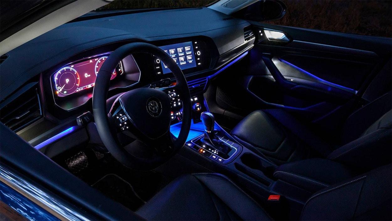 Volkswagen Jetta 7 подсветка салона