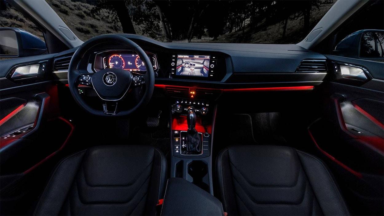 Volkswagen Jetta 7 вид подсветки салона