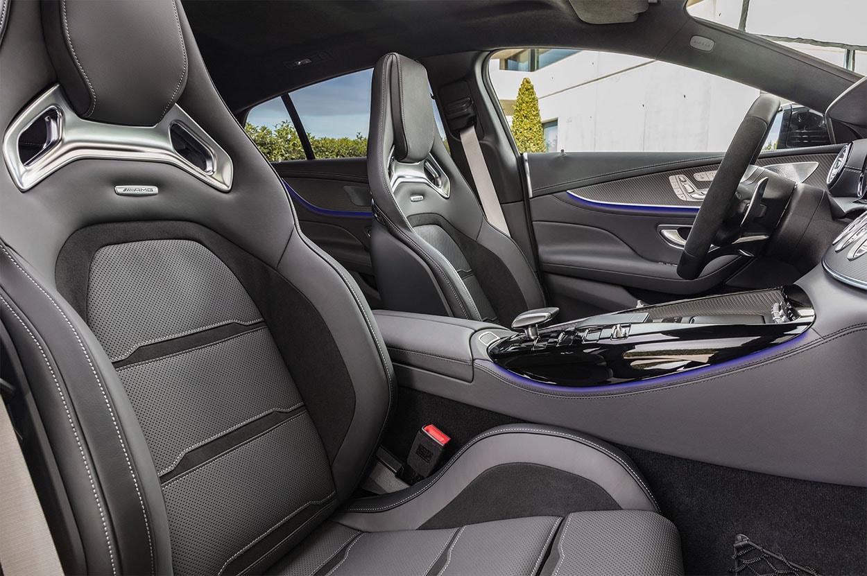 mercedes amg gt 4 door coupe передние сидения