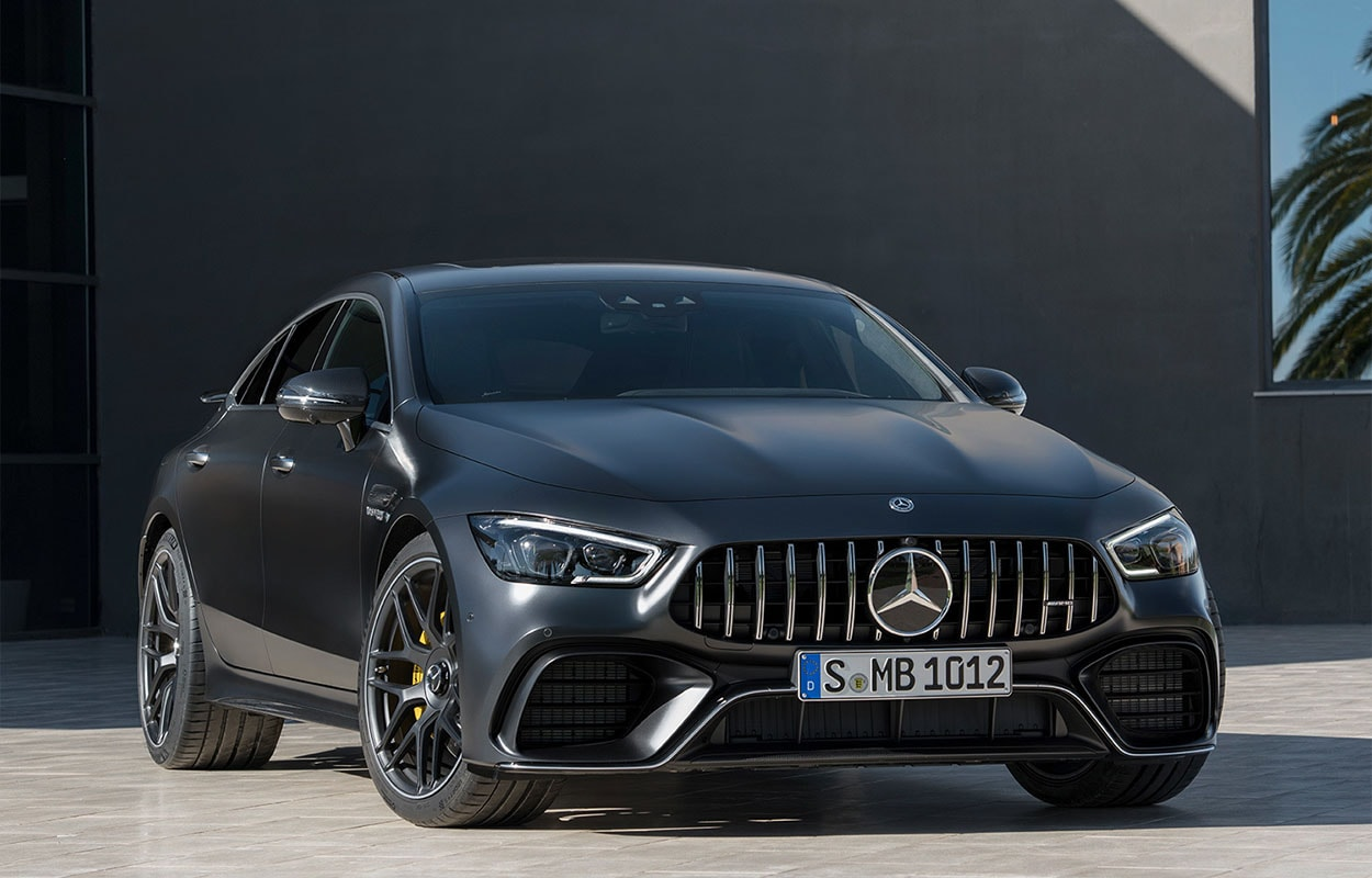 mercedes amg gt 4 door coupe вид спереди