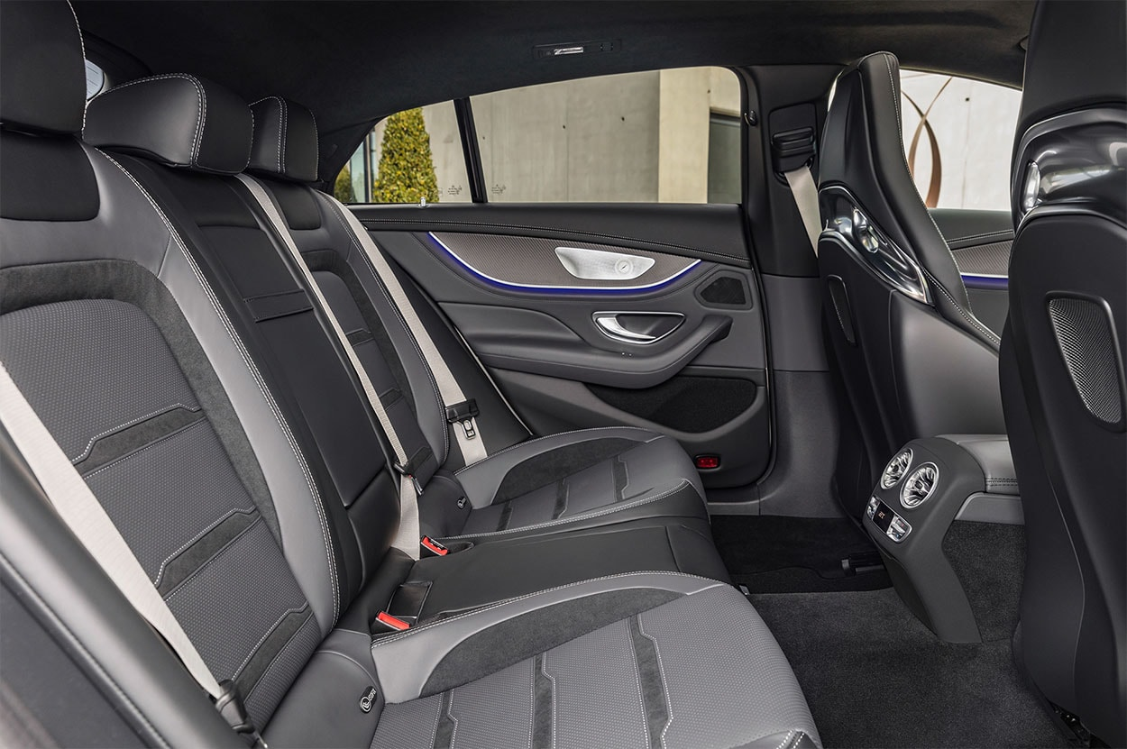 mercedes amg gt 4 door coupe задние сидения