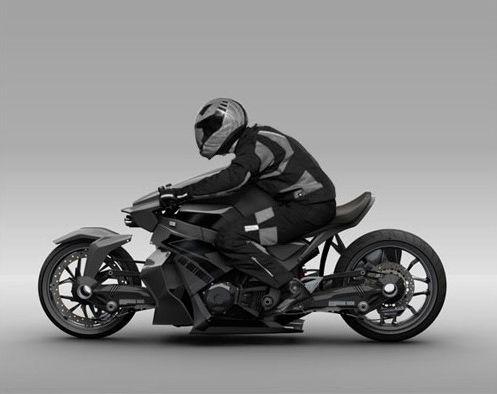 мотоцикл Ostoure фото сбоку