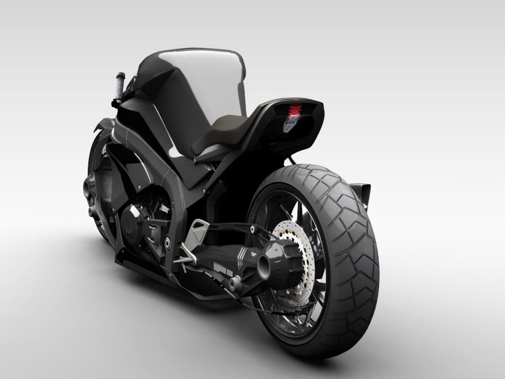 мотоцикл Ostoure фото сзади