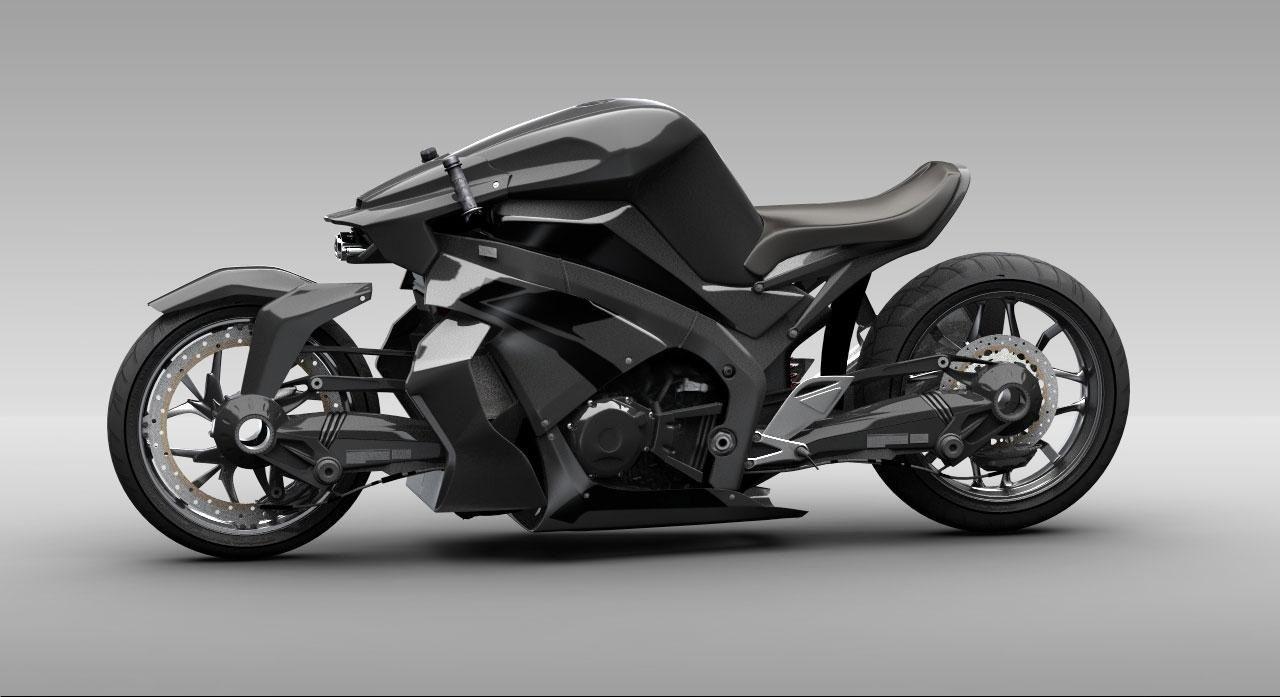мотоцикл Ostoure вид сбоку