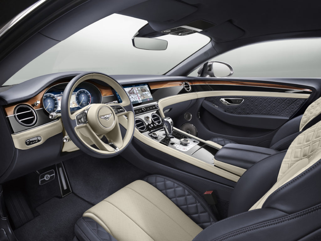 Bentley Continental GT 2018 салон
