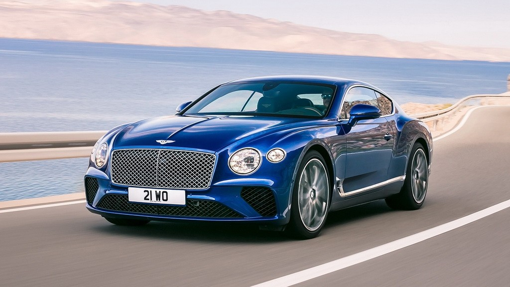 Bentley Continental GT 2018 спереди