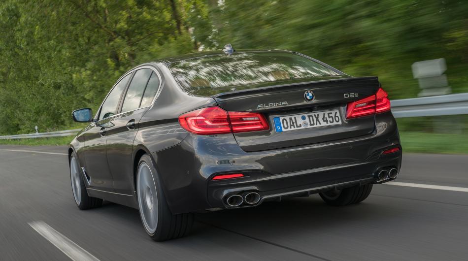 BMW Alpina D5 S фото вид сзади