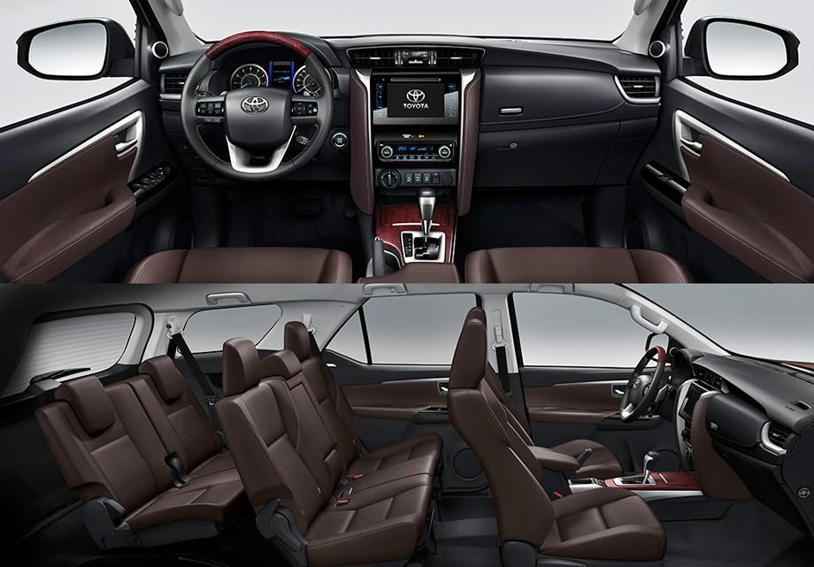 Toyota Fortuner вид салон