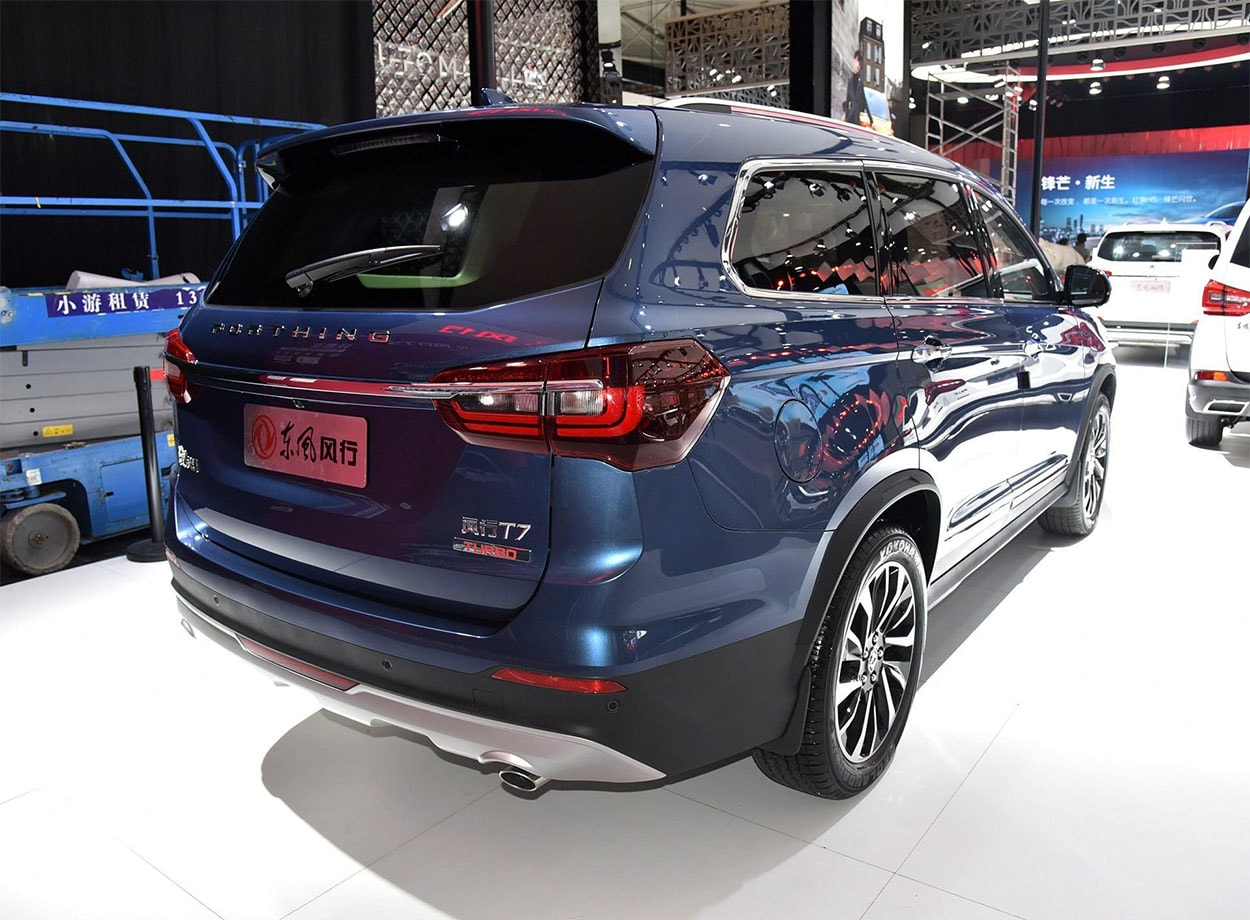 Dongfeng T7 вид сзади