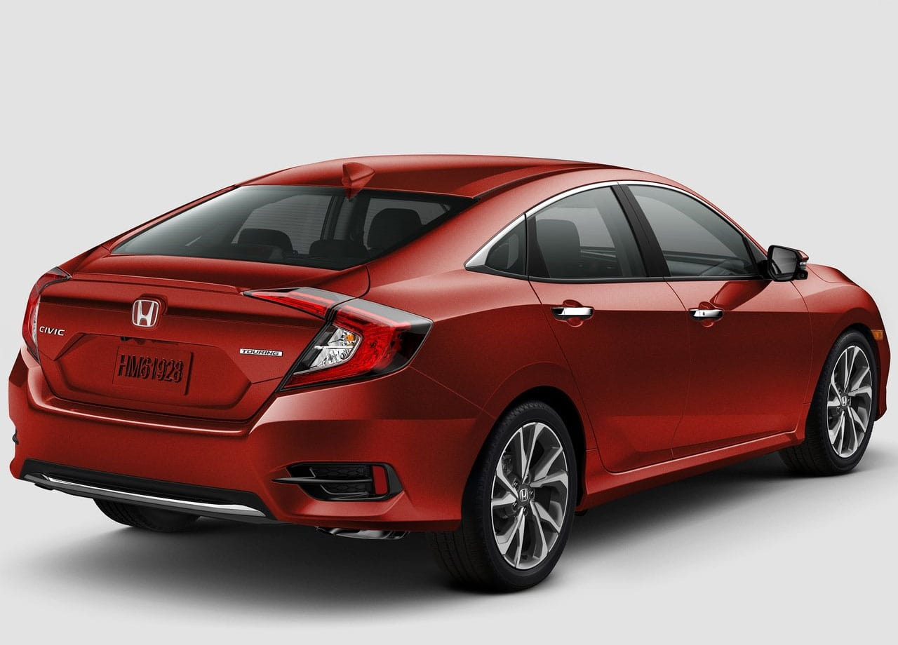 Honda Civic фото сзади