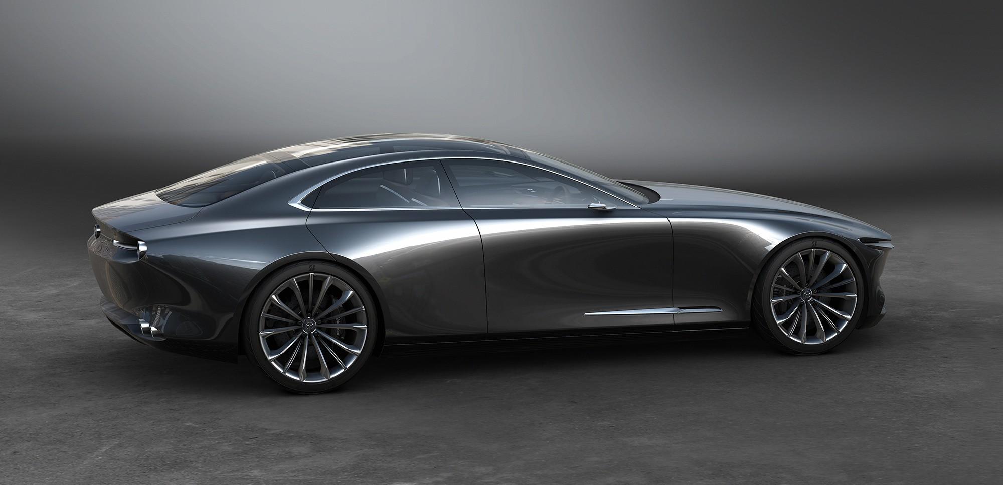 Mazda Vision Coupe вид сбоку