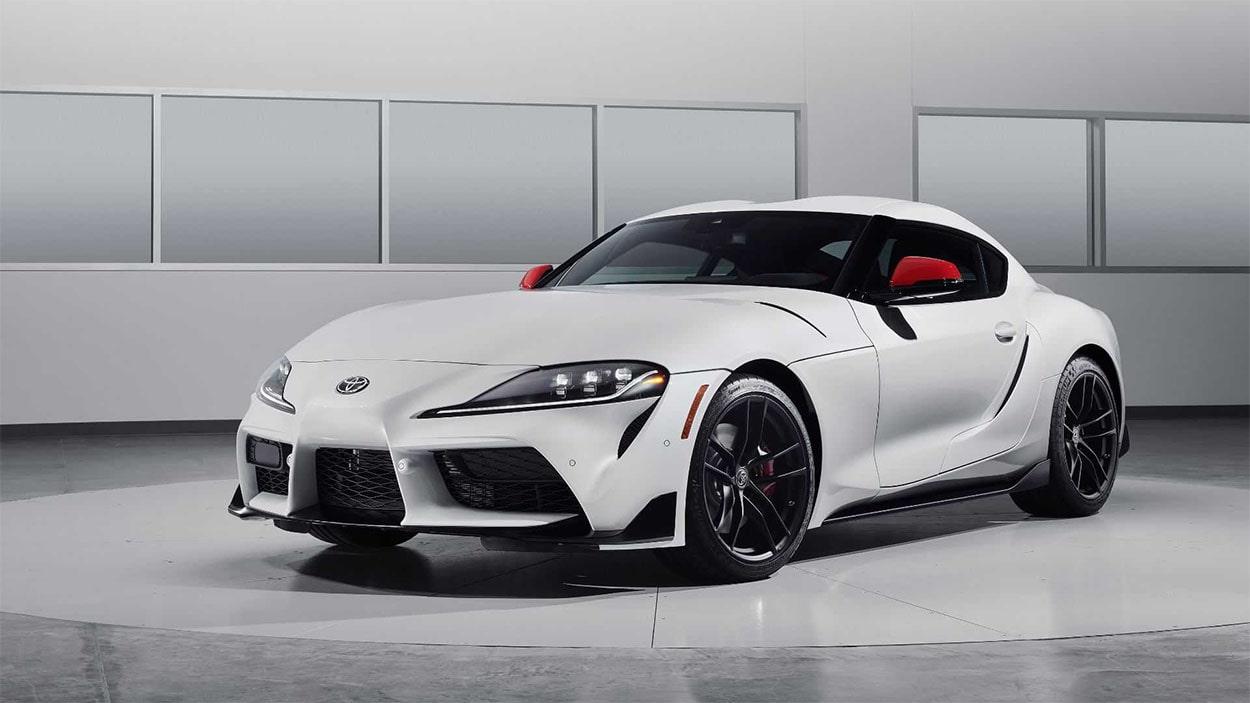 Toyota Supra белый