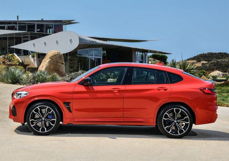 BMW X3 M и BMW X4 M вид сбоку