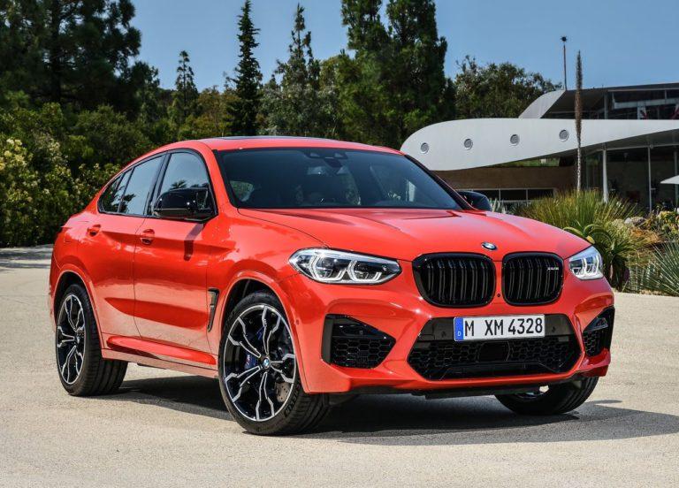 BMW X3 M и BMW X4 M вид спереди