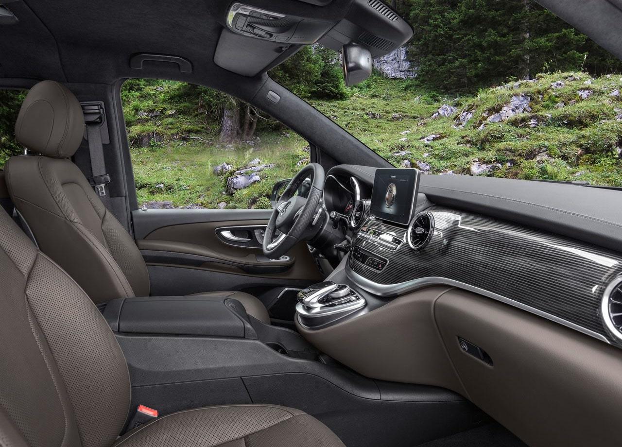 Mercedes-Benz V фото передние сидения
