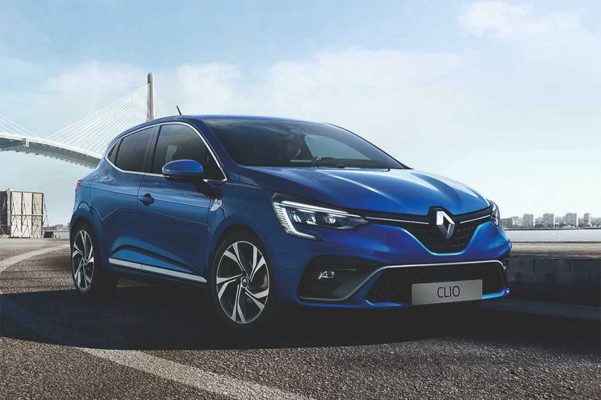 Renault Clio синий