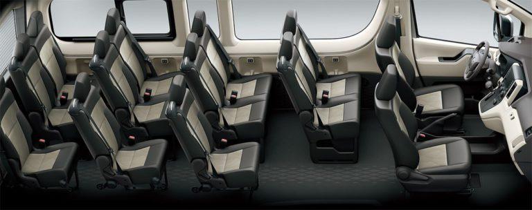 Toyota Hiace пассажирский салон