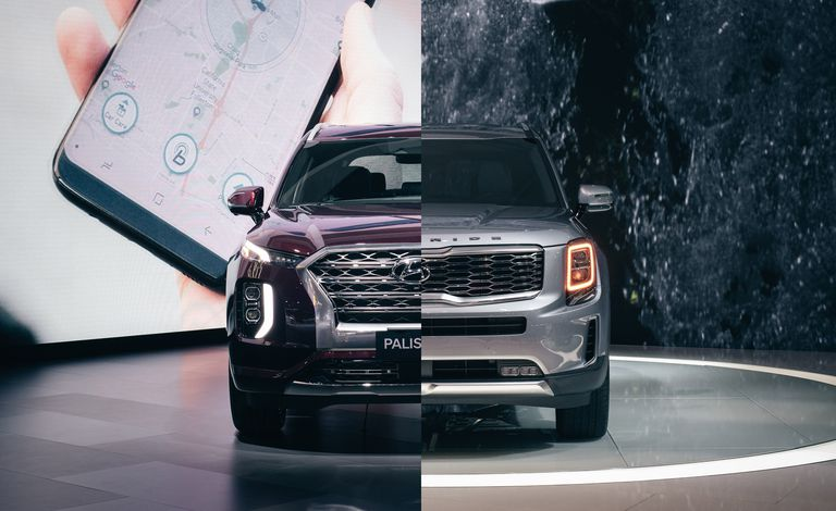 Новый Hyundai Palisade 2020 года и теллурид Kia 2020 года