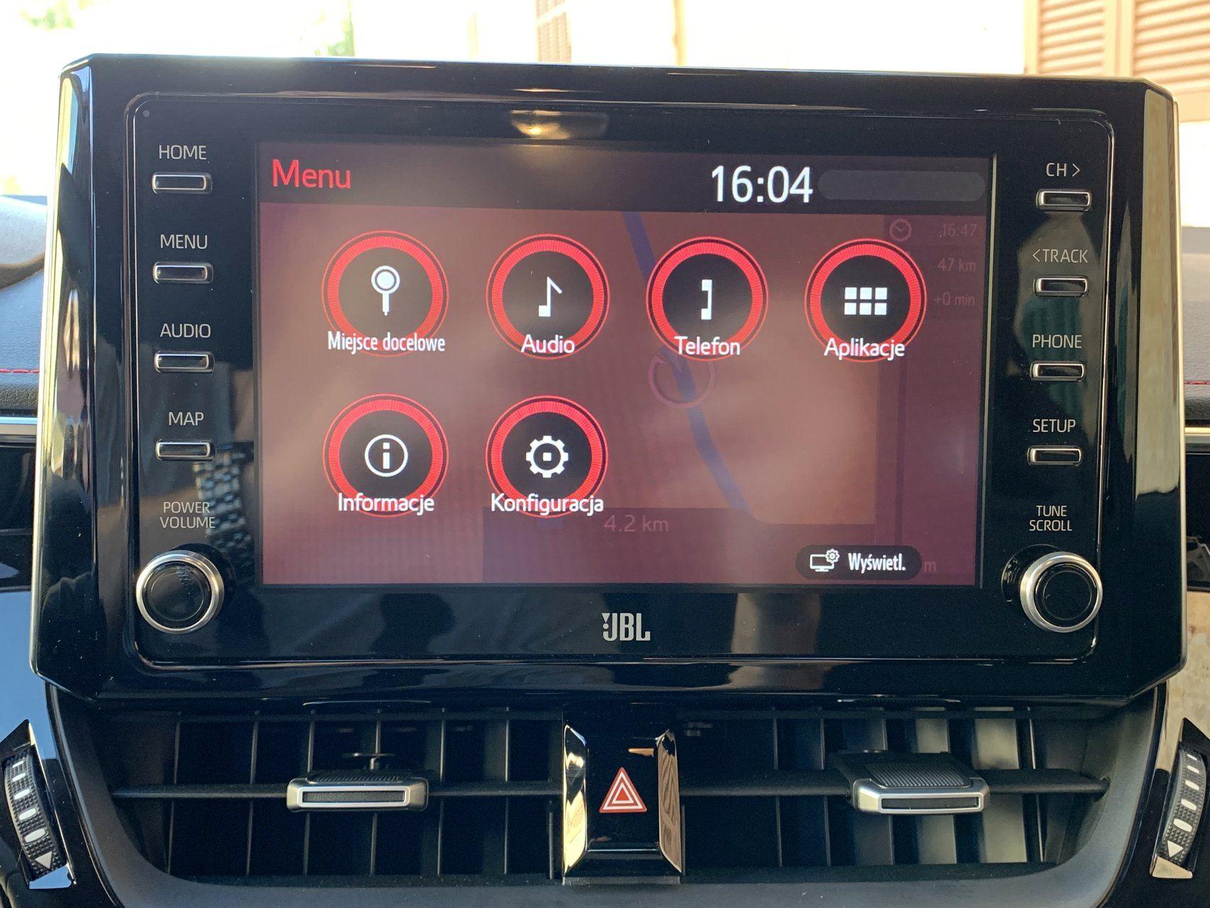Toyota Corolla экран