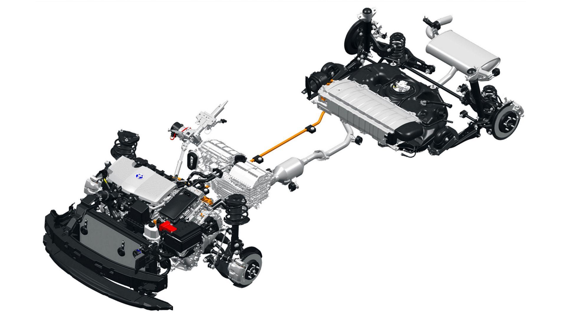 Toyota RAV4 2.5 гибридная система