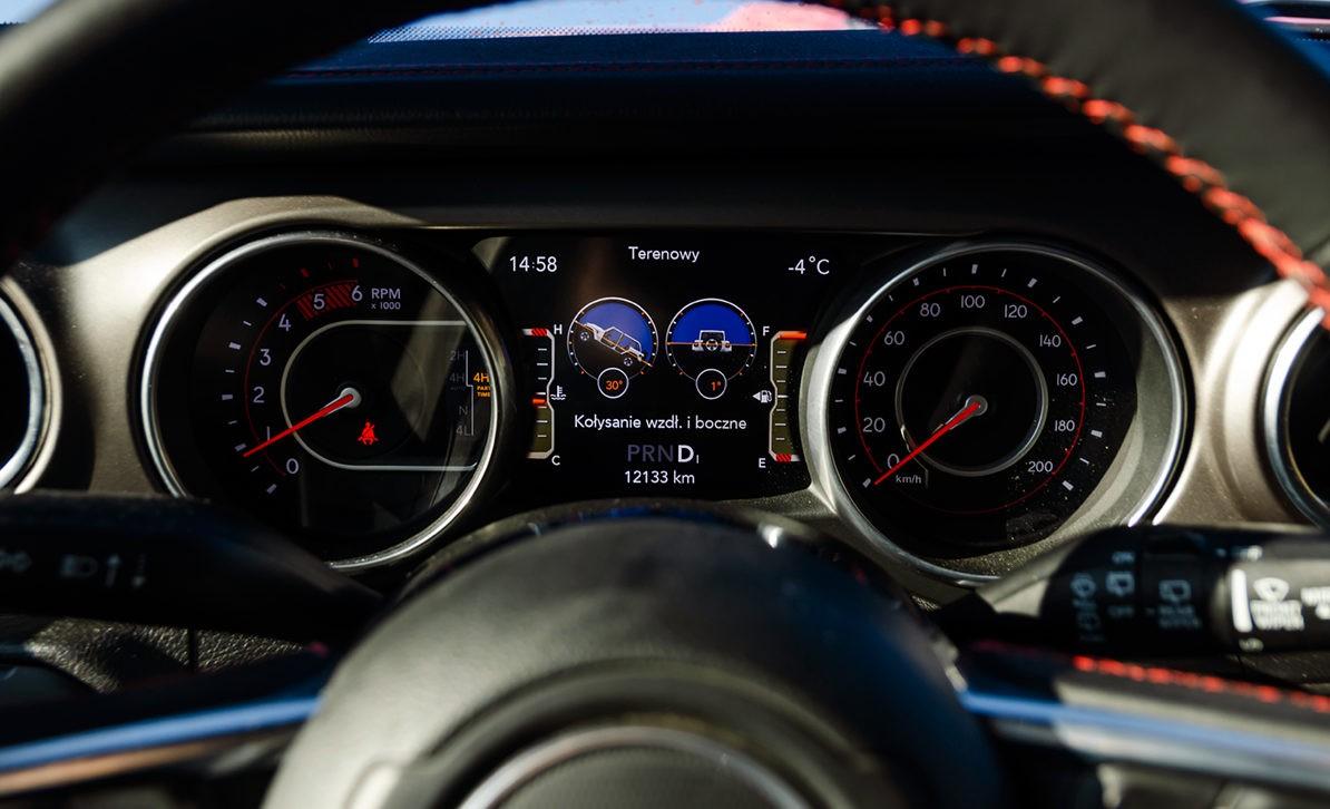Jeep Wrangler Unlimited панель приборов