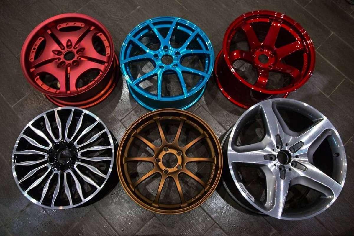 покраска дисков в разные цвета