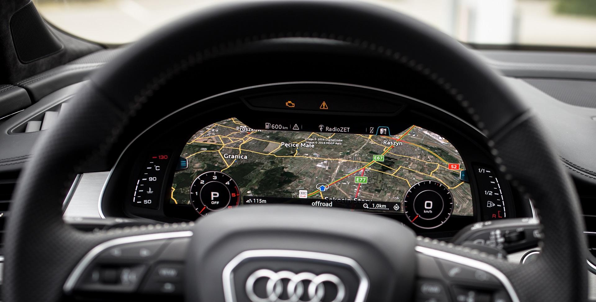 Audi Q7 мультимедиа Виртуальные часы Audi