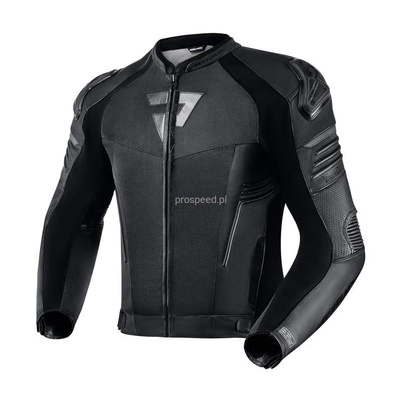 Мотоциклетная куртка из кожи и текстиля Rebelhorn Vandal Air Black